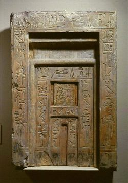 The False Door Inside The Tomb Chapel Or The Cult Chamber Is The  Architectural Expression Of The Link Between The Deceased And The Mortuary  Cult.